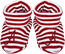 "Alabama Crimson Tide Script ""A"" Striped Booties"