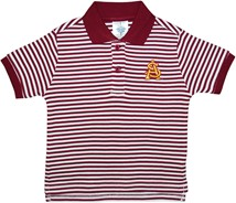 Arizona State Interlocking AS Striped Polo Shirt
