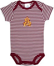 Arizona State Interlocking AS Newborn Infant Striped Bodysuit