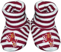 Arizona State Sun Devils Sparky Striped Booties