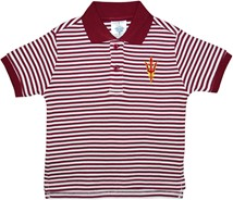 Arizona State Sun Devils Striped Polo Shirt