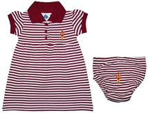 Arizona State Sun Devils Fork Striped Game Day Dress with Bloomer