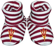 Arizona State Sun Devils Striped Booties