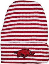 Arkansas Razorbacks Newborn Baby Striped Knit Cap