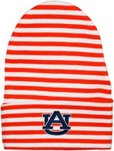 "Auburn Tigers ""AU"" Newborn Baby Striped Knit Cap"