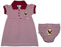 Boston College Eagles Striped Game Day Dress with Bloomer