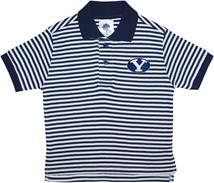 BYU Cougars Striped Polo Shirt