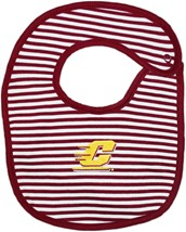 Central Michigan Chippewas Striped Newborn Bib
