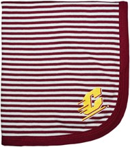 Central Michigan Chippewas Striped Baby Blanket
