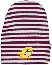 Central Michigan Chippewas Newborn Baby Striped Knit Cap