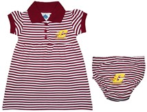 Central Michigan Chippewas Striped Game Day Dress with Bloomer