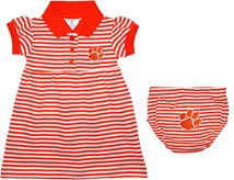 Clemson Tigers Striped Game Day Dress with Bloomer