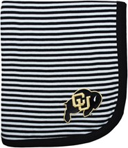 Colorado Buffaloes Striped Baby Blanket