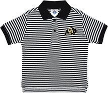 Colorado Buffaloes Striped Polo Shirt