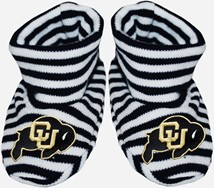 Colorado Buffaloes Striped Booties