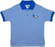 Creighton Bluejay Head Striped Polo Shirt