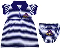 East Carolina Pirates Striped Game Day Dress with Bloomer