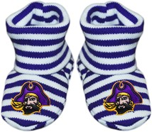 East Carolina Pirates Striped Booties