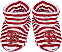 Florida State Seminoles Interlocking FS Striped Booties