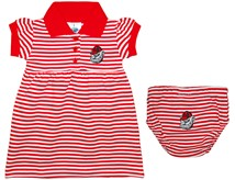 Georgia Bulldogs Head Striped Game Day Dress with Bloomer