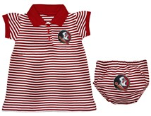 Florida State Seminoles Striped Game Day Dress with Bloomer