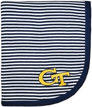 Georgia Tech Yellow Jackets Striped Baby Blanket