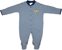 Georgia Tech Yellow Jackets Striped Footed Romper