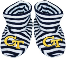 Georgia Tech Yellow Jackets Striped Booties