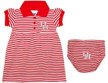 Houston Cougars Striped Game Day Dress with Bloomer