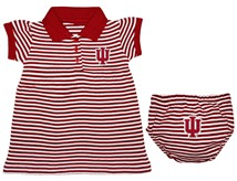 Indiana Hoosiers Striped Game Day Dress with Bloomer