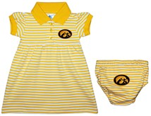 Iowa Hawkeyes Striped Game Day Dress with Bloomer
