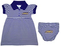 James Madison Dukes Striped Game Day Dress with Bloomer