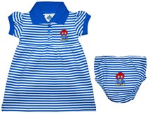 Kansas Jayhawks Baby Jay Striped Game Day Dress with Bloomer