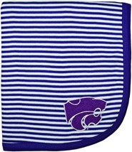Kansas State Wildcats Striped Baby Blanket