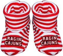 Louisiana-Lafayette Ragin Cajuns Striped Booties