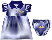 LSU Tigers Script Striped Game Day Dress with Bloomer