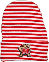 Maryland Terrapins Newborn Baby Striped Knit Cap