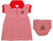 Maryland Terrapins Striped Game Day Dress with Bloomer