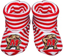 Maryland Terrapins Striped Booties