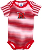 Miami University RedHawks Newborn Infant Striped Bodysuit