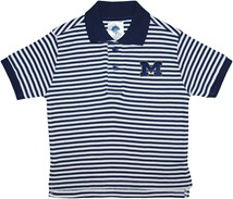 "Michigan Wolverines Outlined Block ""M"" Striped Polo Shirt"