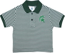 Michigan State Spartans Striped Polo Shirt