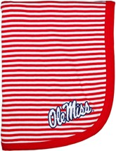 Ole Miss Rebels Striped Baby Blanket