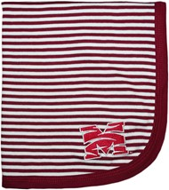 Morehouse Maroon Tigers Striped Baby Blanket