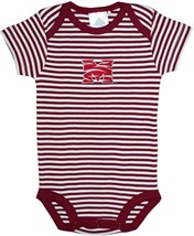 Morehouse Maroon Tigers Newborn Infant Striped Bodysuit
