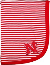 Nebraska Cornhuskers Block N Striped Baby Blanket