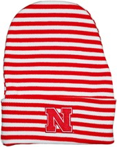 Nebraska Cornhuskers Block N Newborn Baby Striped Knit Cap