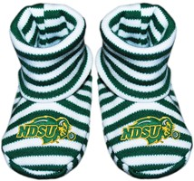 North Dakota State Bison Striped Booties