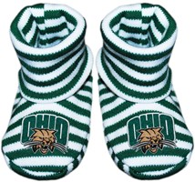 Ohio Bobcats Striped Booties