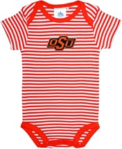 Oklahoma State Cowboys Newborn Infant Striped Bodysuit